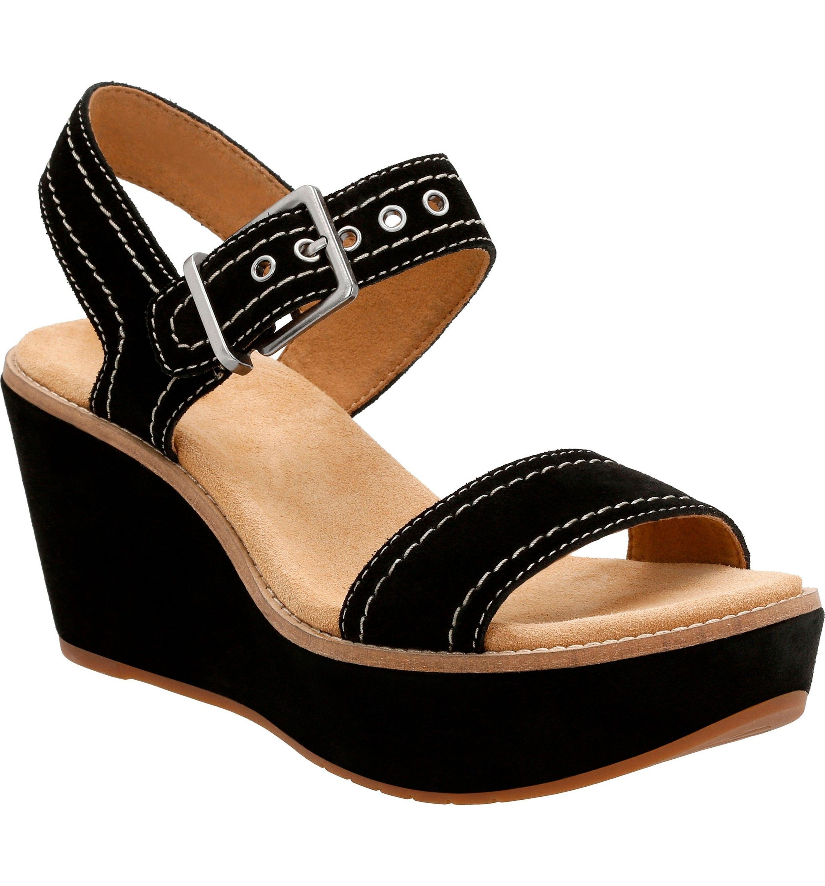 044930ac6436 Main Image - Clarks® Aisley Orchid Wedge Sandal (Women)