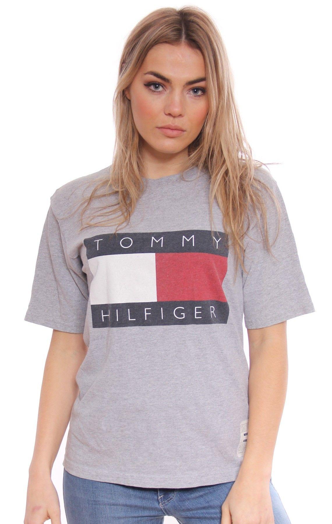 Vintage Tommy Hilfiger Box Logo Tee  b7479a7a16