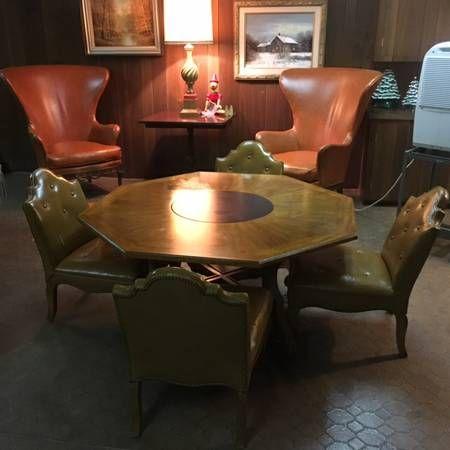 Mid Century Drexel Party Table Octagonalmetro Detroit Michigan Interesting Craigslist Living Room Set Inspiration Design