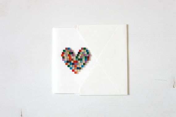 Mosaic Heart . Mother's Day . Valentine's Day . Friendship . Love . Greeting Card