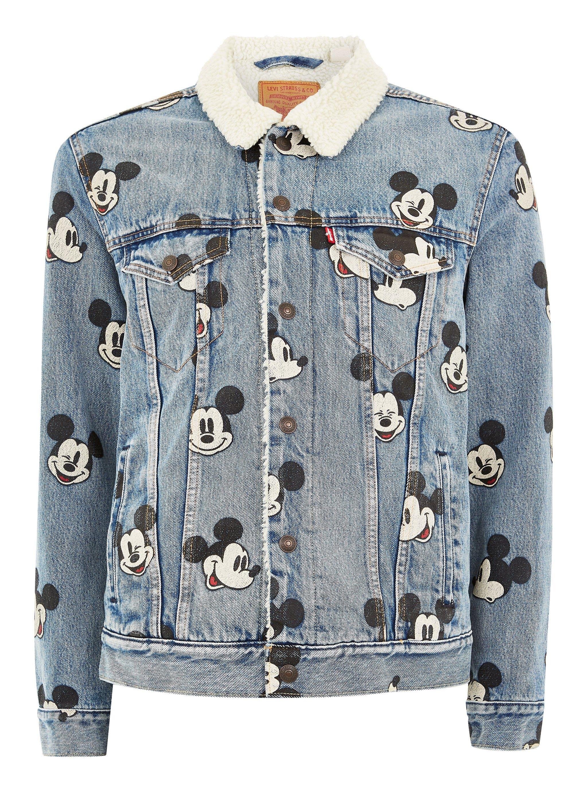 de0fdc98 Herren BLAU LEVI S Blue Mickey Mouse Sherpa Trucker Denim Jacket | #mode  #herrenmode