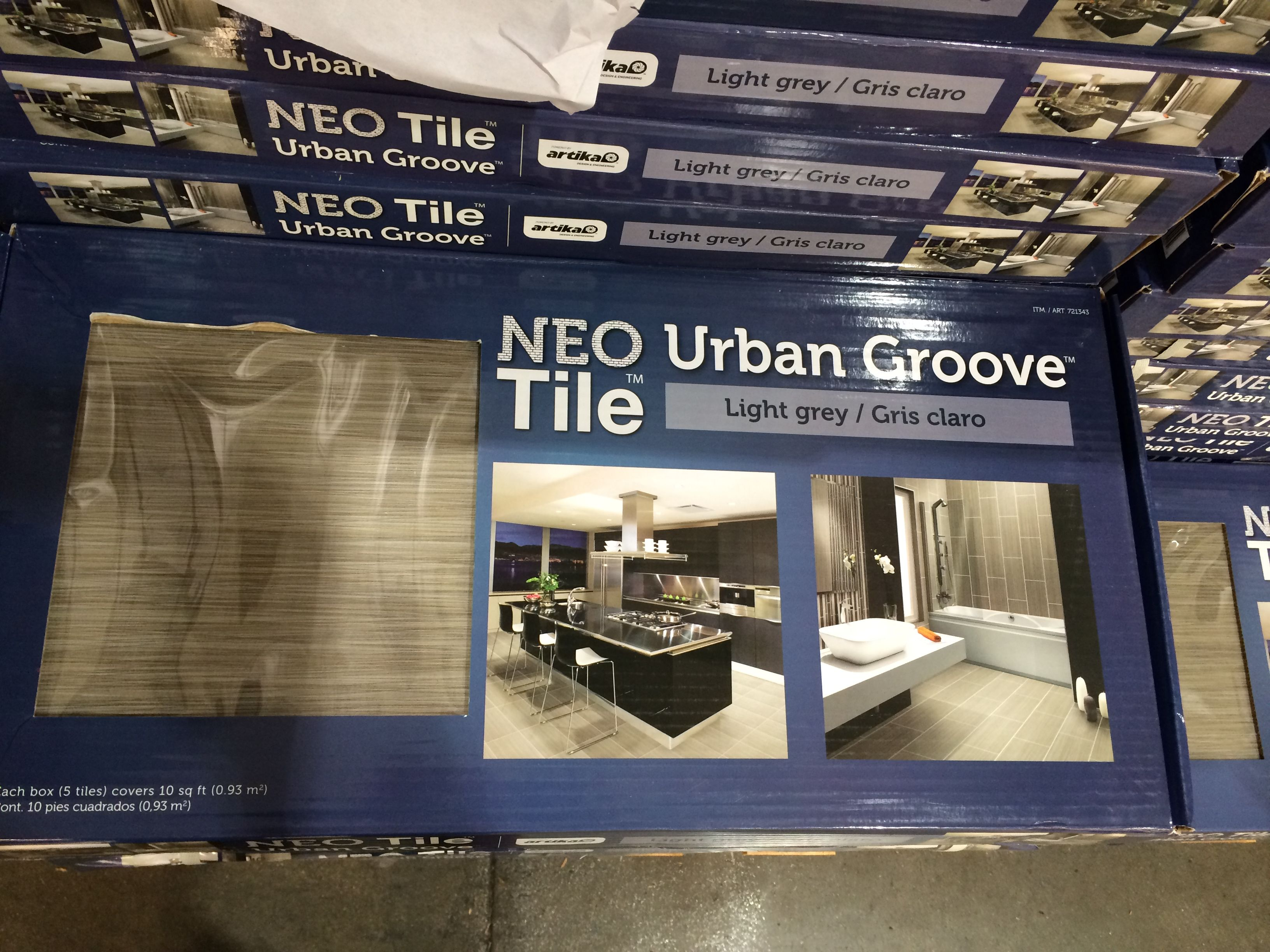 Costco Tile. Neo Urban Groove in Light Gray. | Kitchen DIY ...