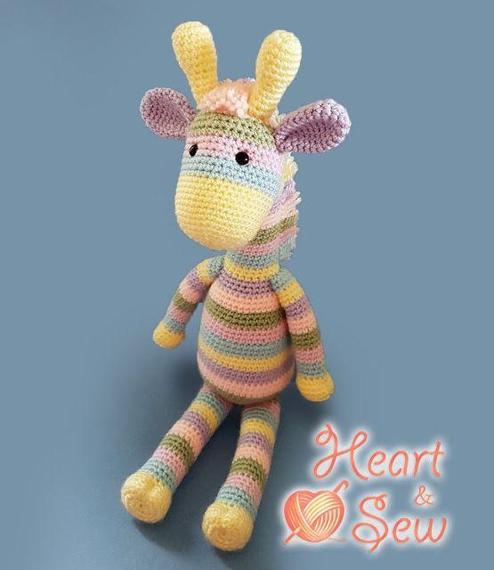 Amigurumi Funny Giraffe pattern. Crochet pattern. Amigurumi safari ... | 640x555