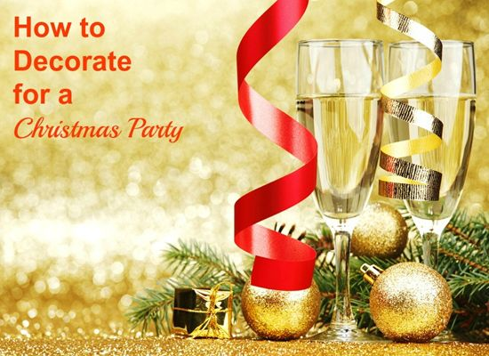 How to Decorate for a Christmas Party #DIY #Tips