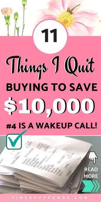 So hören Sie auf, Dinge zu kaufen: 11 Dinge, die ich aufgehört habe zu kaufen, um Geld zu sparen   – Products I Love