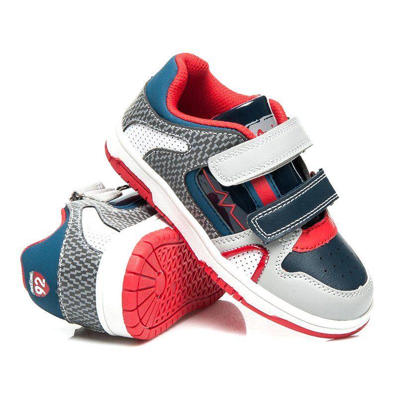 Buty Sportowe Dzieciece Dla Dzieci Americanclub Szare Buciki Sportowe Na Wiosne American Club Baby Shoes Sneakers Shoes
