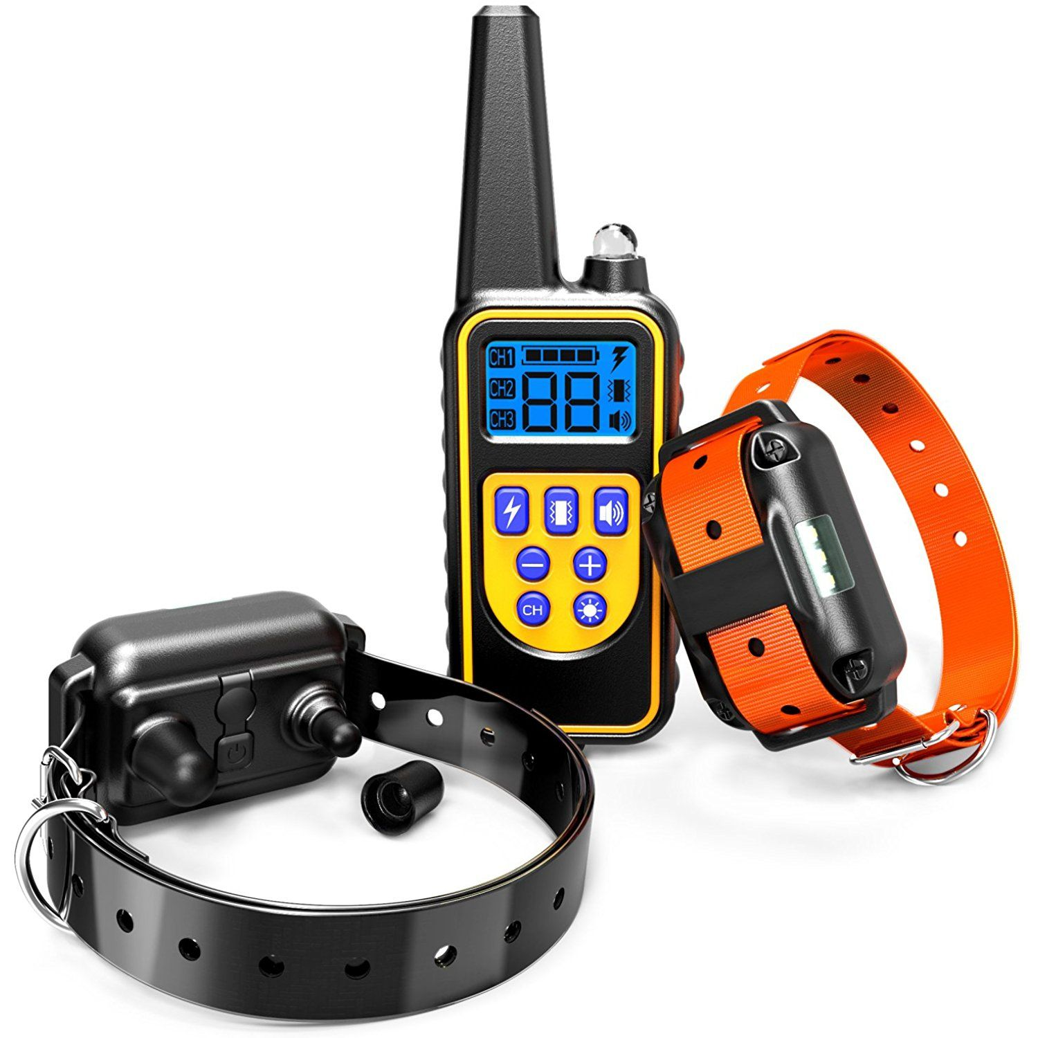 Dog Training Collar F Color Waterproof And Rechargeable Dog Shock