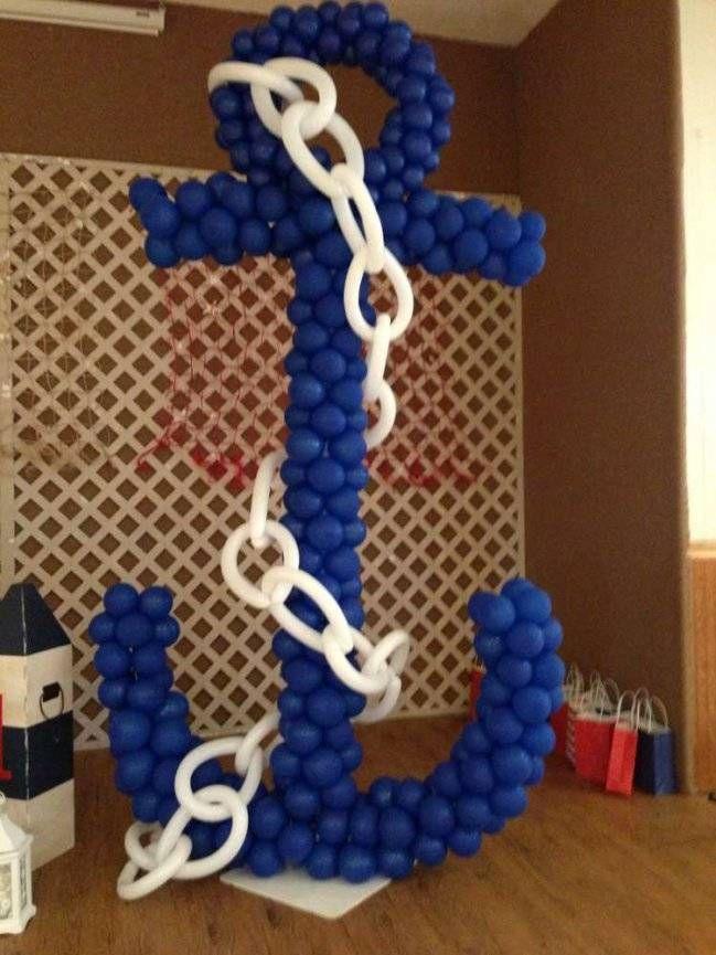 globos para baby shower de marineros
