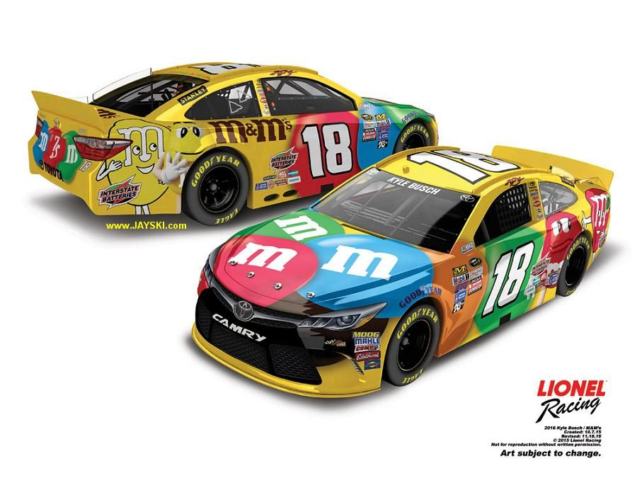 2016 NASCAR Sprint Cup Series 18 Paint Schemes Toyota