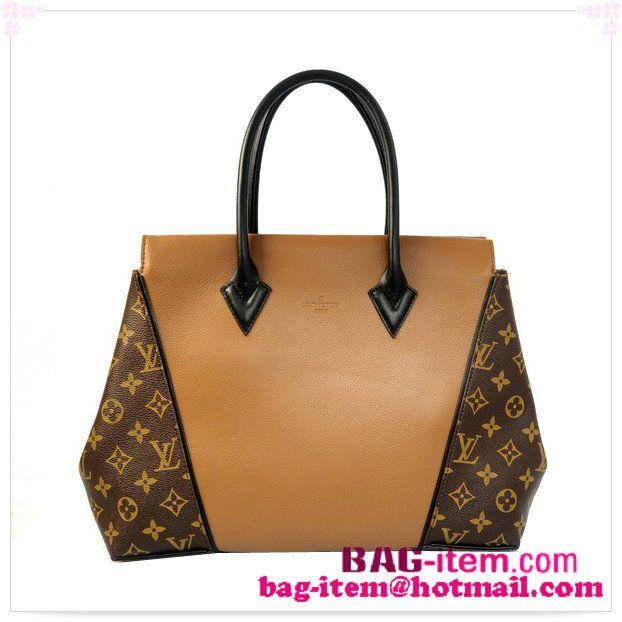 c8ddc24c8b8b 2014 Louis Vuitton Monogram Canvas Leather W bag PM M41007 Camel ...