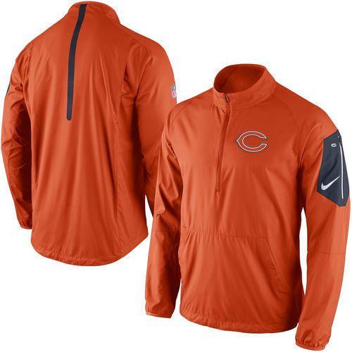 be235a1c3 Men s Nike Orange  Chicago  Bears Lockdown Half-zip Jacket from  74.99