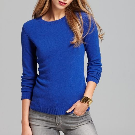 C by Bloomingdale's Cashmere Crew Neck Sweater | Crew neck, Warm ...