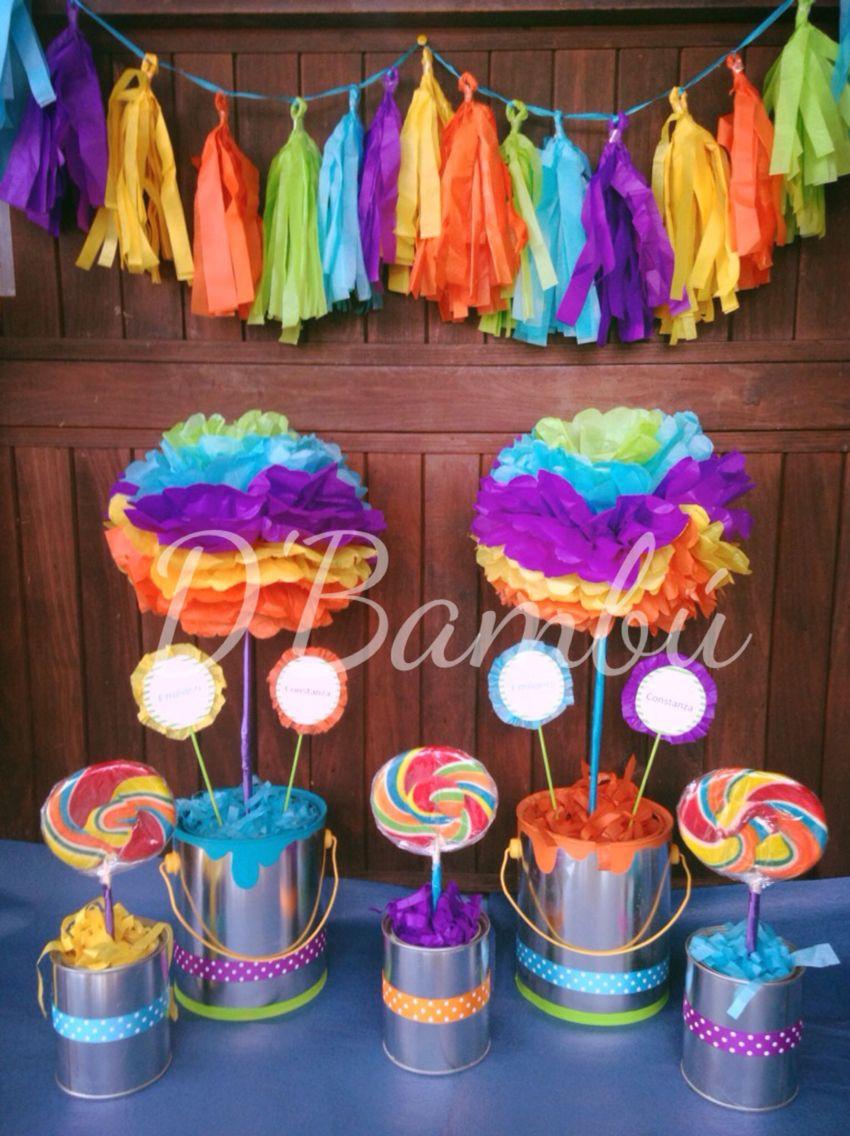 Decoracion fiesta tematica arte y pintura analu fiesta - Ideas decoracion fiestas ...