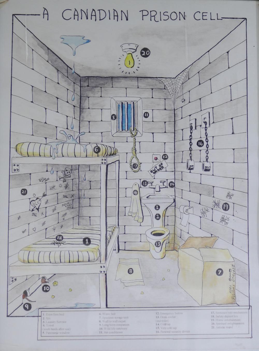 A Canadian Prison Cell Prison Art Prison Inmates Prison