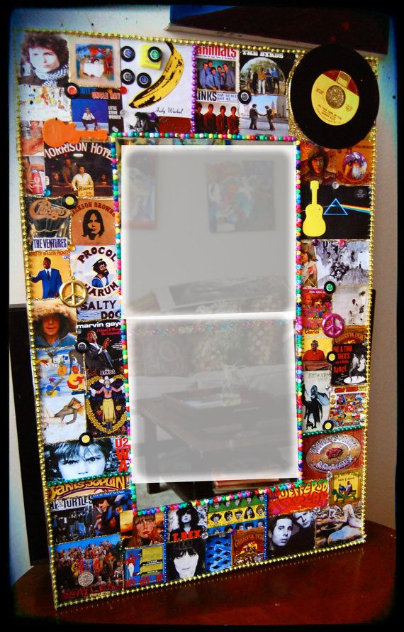 Music Art Large Wall Art Rock N Roll Vintage Mirror Classic Rock Legends Boho Decor Bob Dylan U2 Velvet Underground Music Themed Rooms Music Decor Music Themed