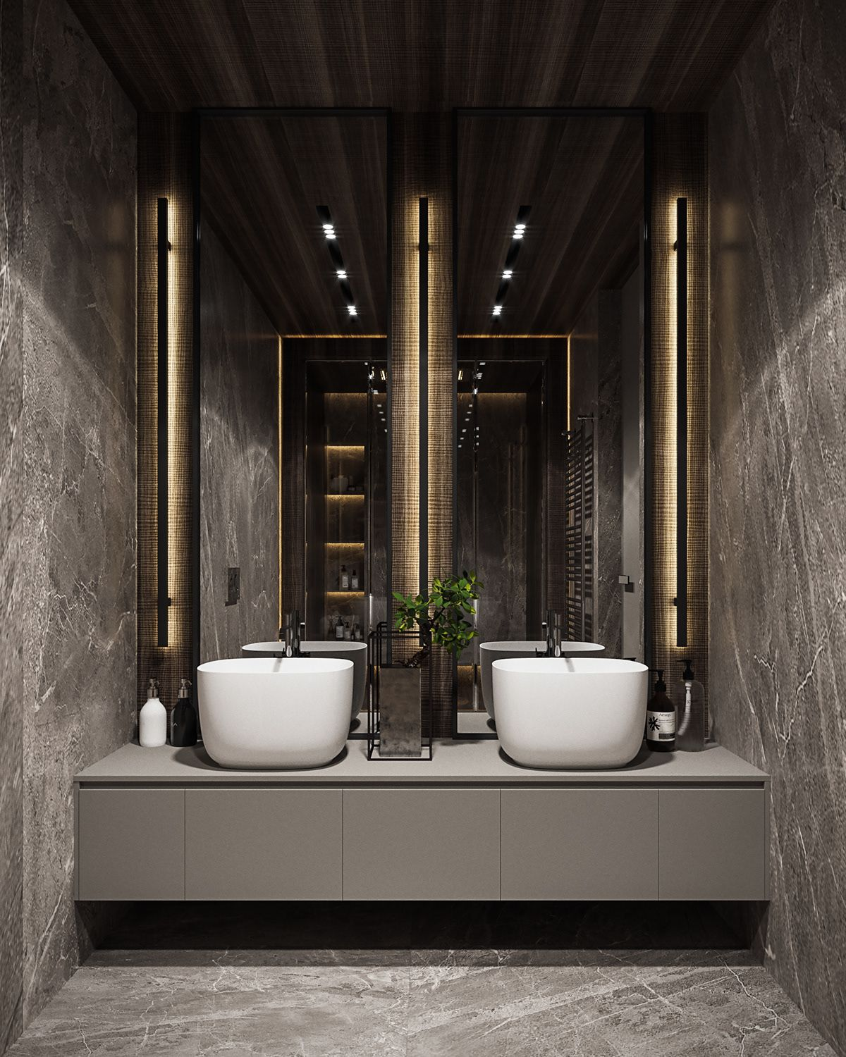 Residential Interior Design: Residential Interior With Natural Materials On Behance