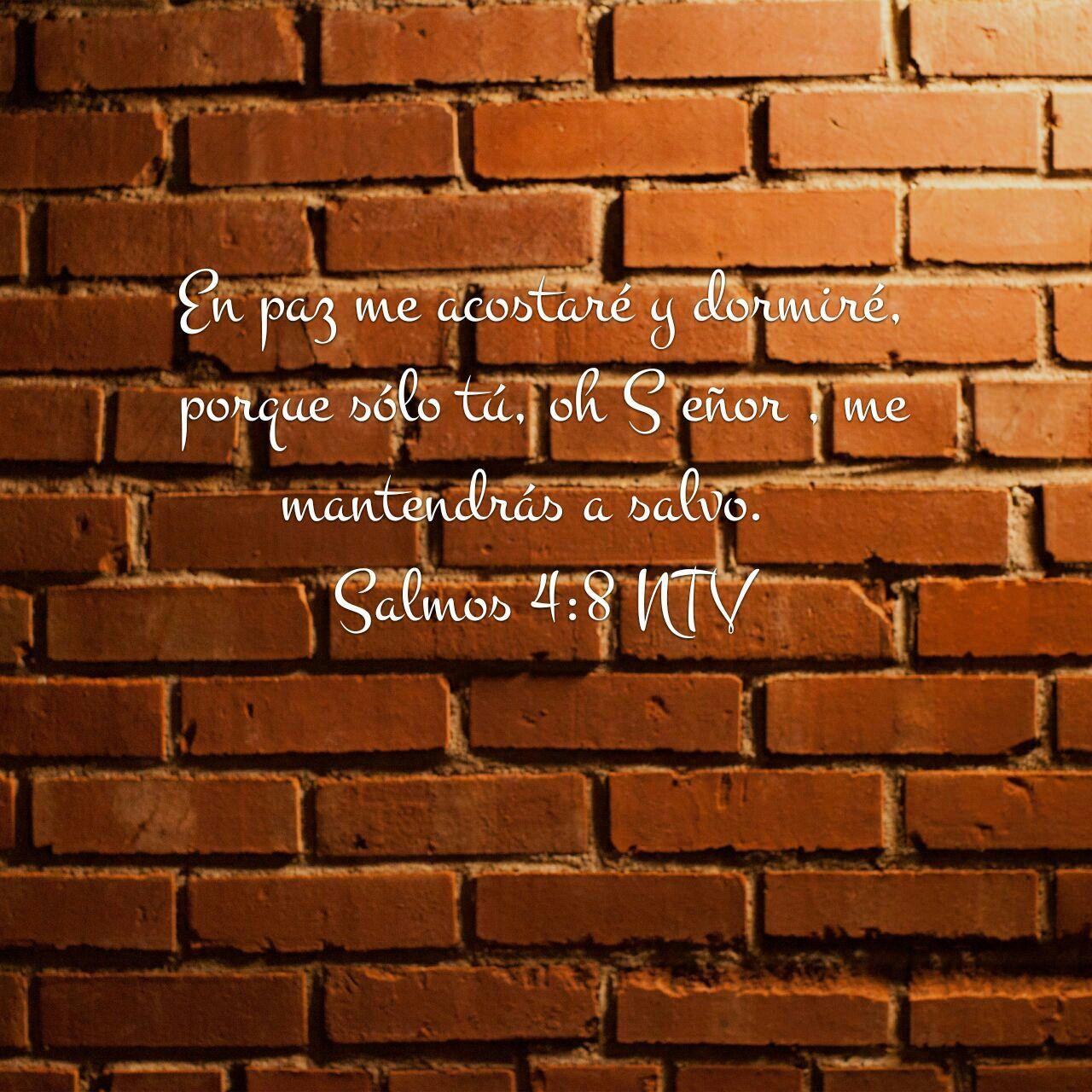 En paz me acostare y así mismo dormiré.   Salmos 4:8