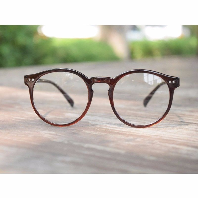 1920s Vintage oliver retro eyeglasses 82E41 Brown Round frames eyewear rubyruby