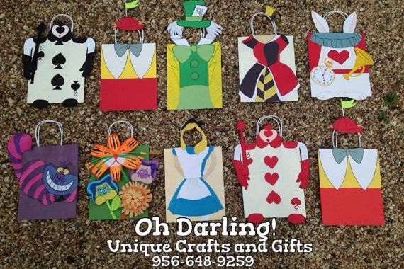Alice In Wonderland Treat Bags By Ohdarlingcrafts On Etsy