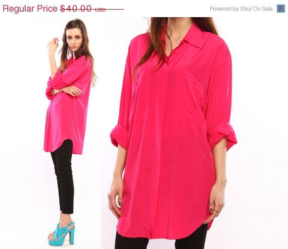 hot pink blouse shirt