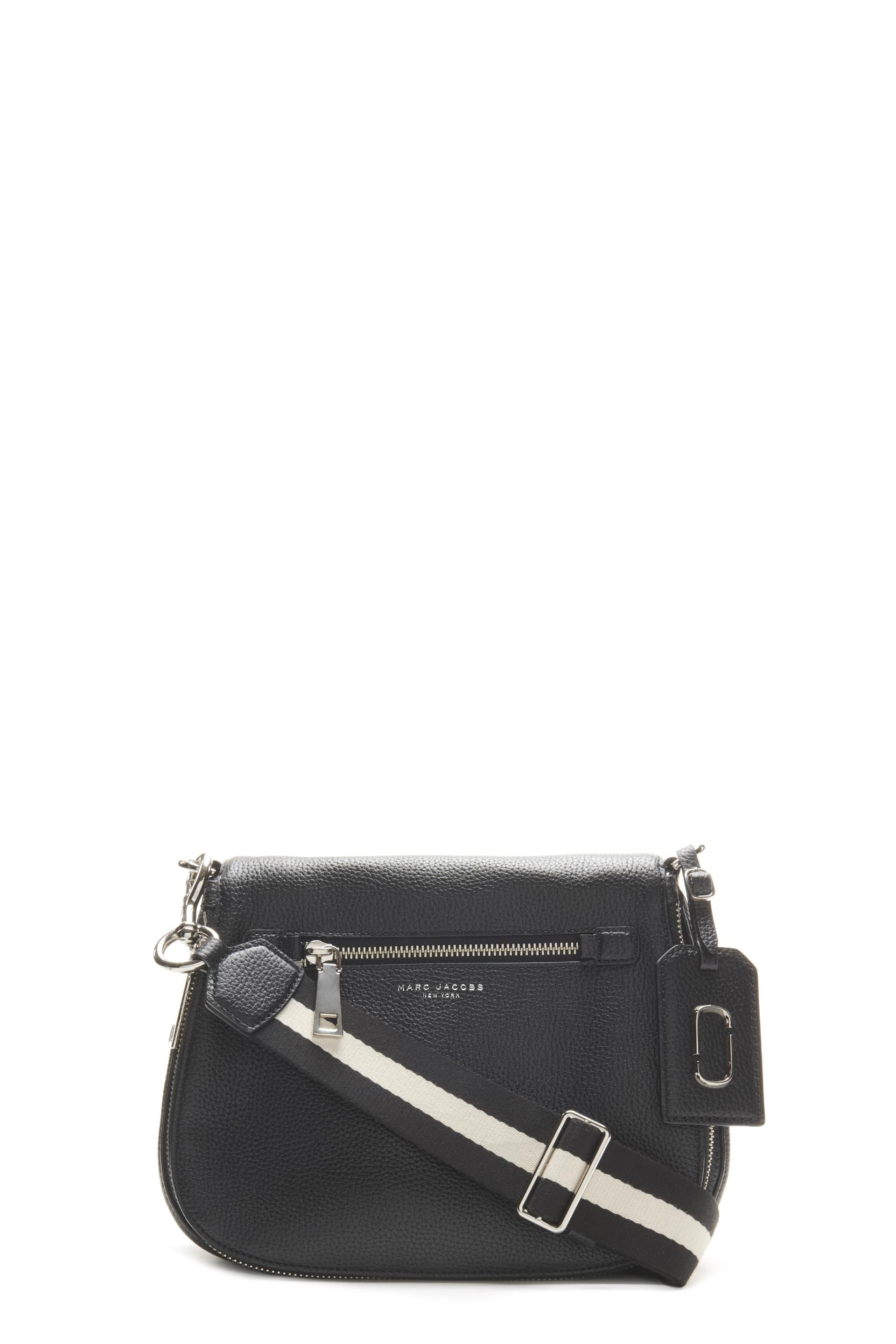 MARC JACOBS Recruit Small Saddle Bag With Guitar Strap in Black ... 858444a79210