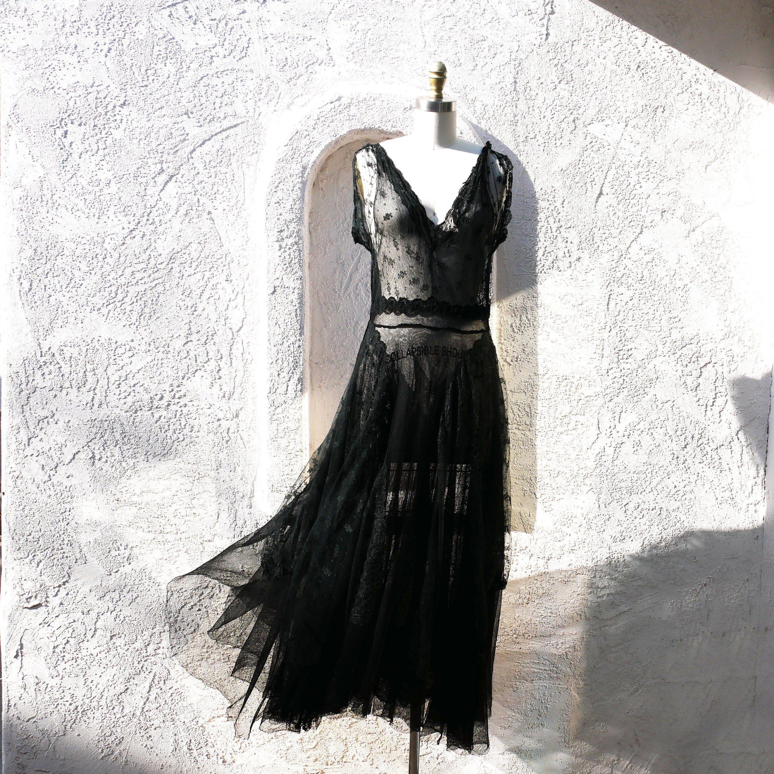Reserved For Dori 1940s Evening Dress In Black Lace And Net Etsy 1940s Evening Dresses Dresses See Through Dress [ 2600 x 2600 Pixel ]