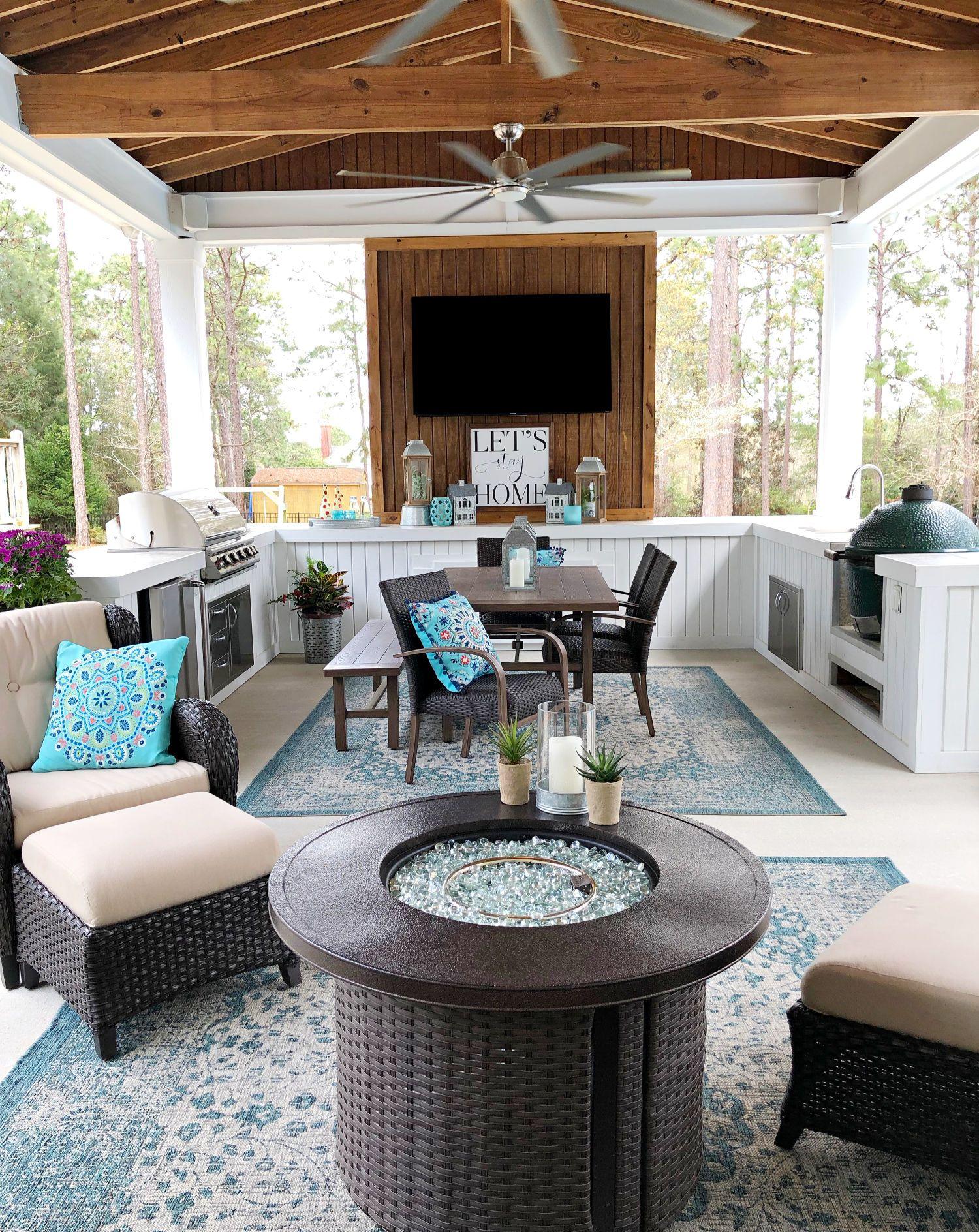 Farmhouse Back Porch Decor Ideas Refresh Restyle Patio Decor Outdoor Decor Porch Decorating