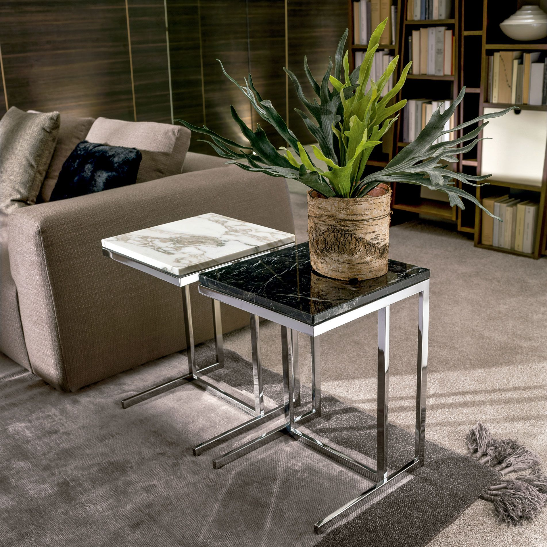 Kubico Side Table Accent Table Decor Marble Furniture Granite Coffee Table [ 1903 x 1903 Pixel ]