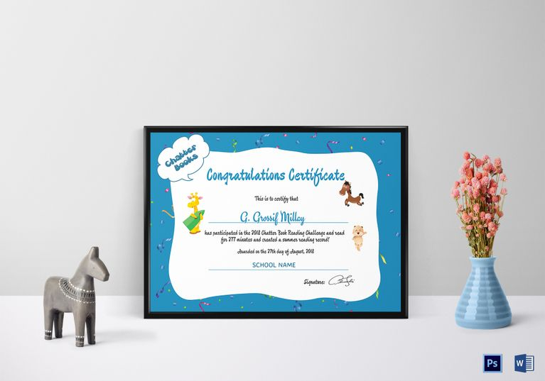 Congratulations Certificate Template (11 Certificates) \u2014 Rapic Design