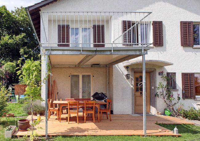 balkonanbau metallbalkon terrasse gelaender 01 haus au en pinterest balkon balkonanbau. Black Bedroom Furniture Sets. Home Design Ideas