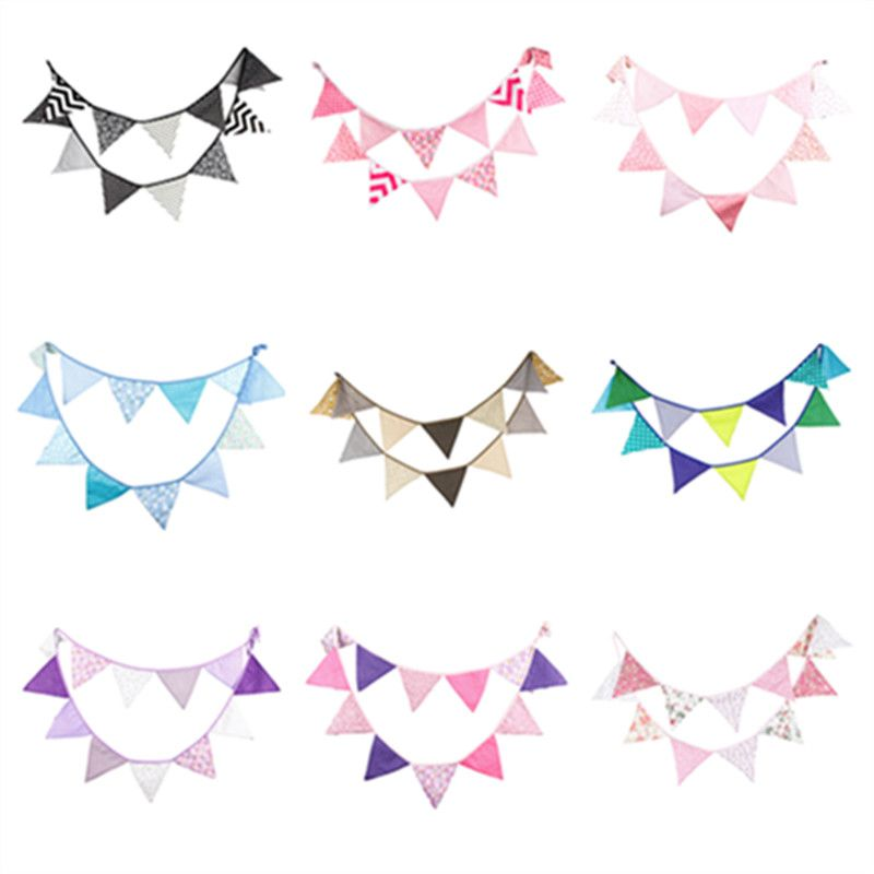 12 Flags 3.2m Pennant Flags Bunting Wedding Festival Party Home Decor Banners