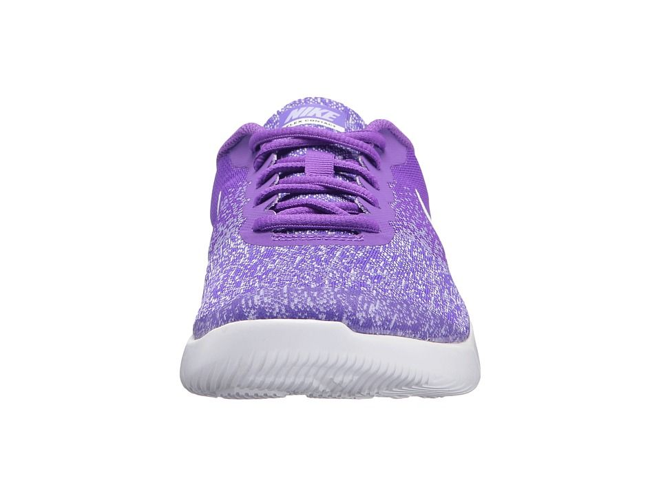 74253a68de Nike Kids Flex Contact (Big Kid) Girls Shoes Hyper Grape/White/Purple Agate