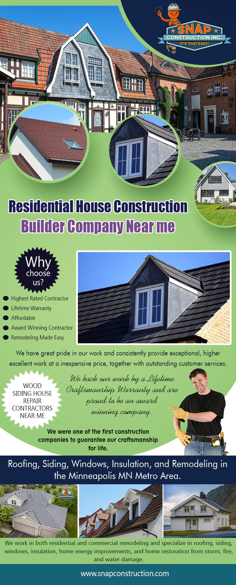 Residential House Construction Builder Company Near Minneapolis Construction Builders Home Construction Residential House