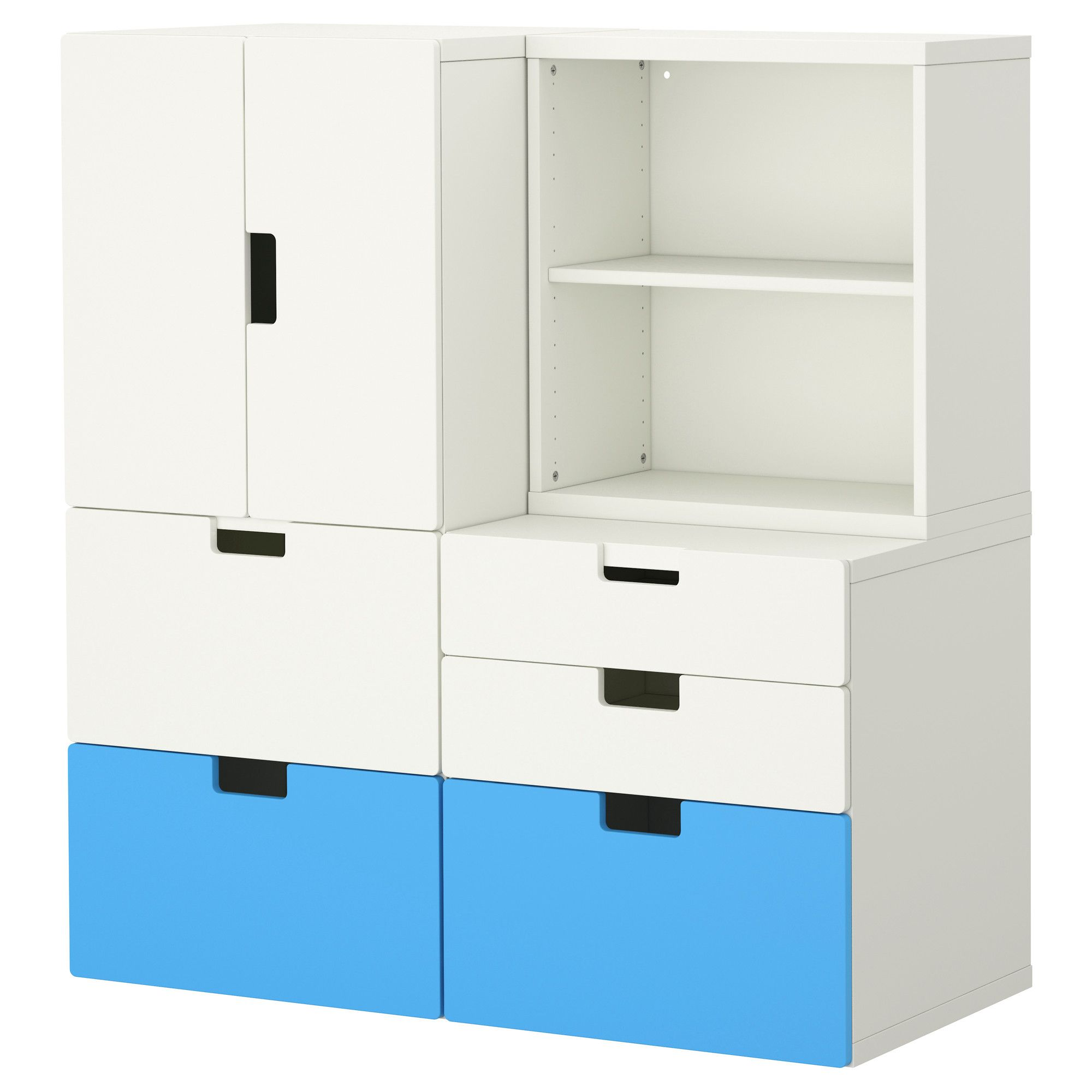 Stuva storage combination w doors drawers ikea office for Ikea drawers office