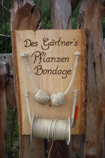 Männergeschenk-Gartendekoration-Bondage ♥ von Holz- Kreativ auf - gartendekoration aus holz
