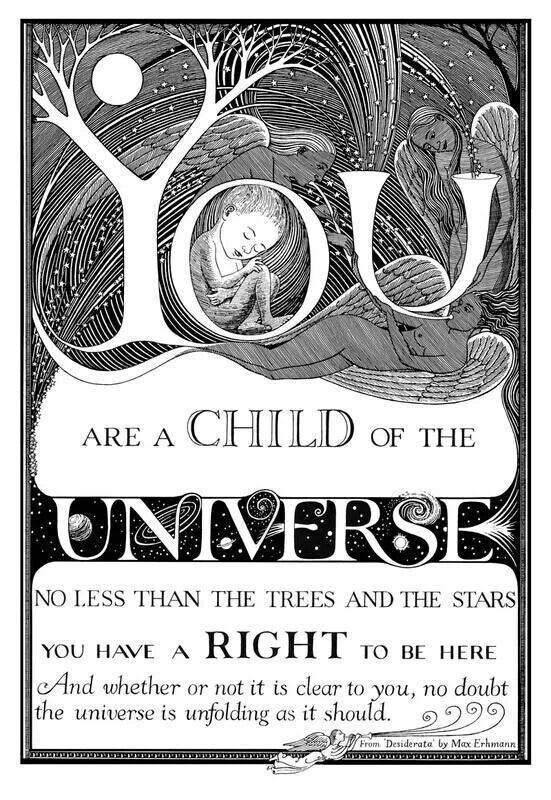 you are a child of the universe | You are a child of the universe