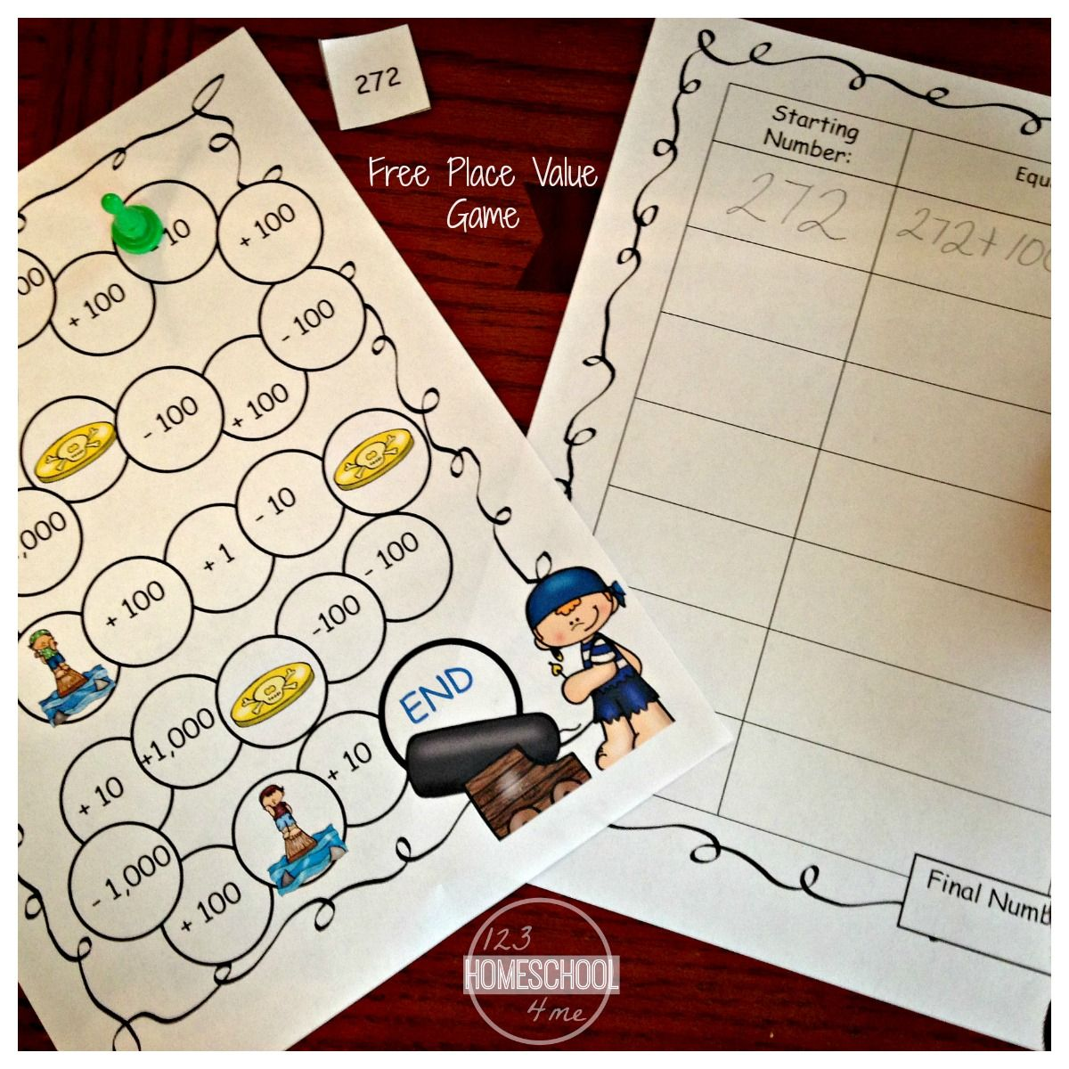 Free Pirate Place Value Games