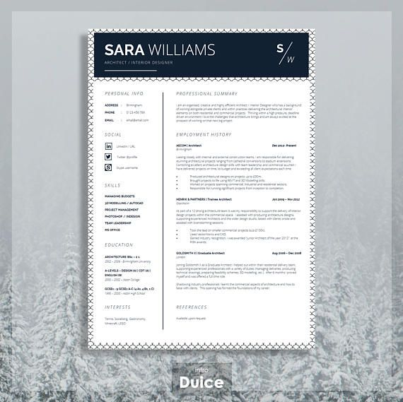 This super easy to edit Curriculum Vitae is an immediate download - resume template for mac