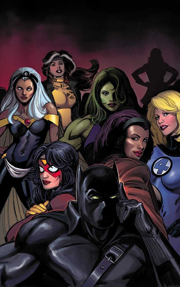 Black Panther & Women of Marvel by Scot Eaton