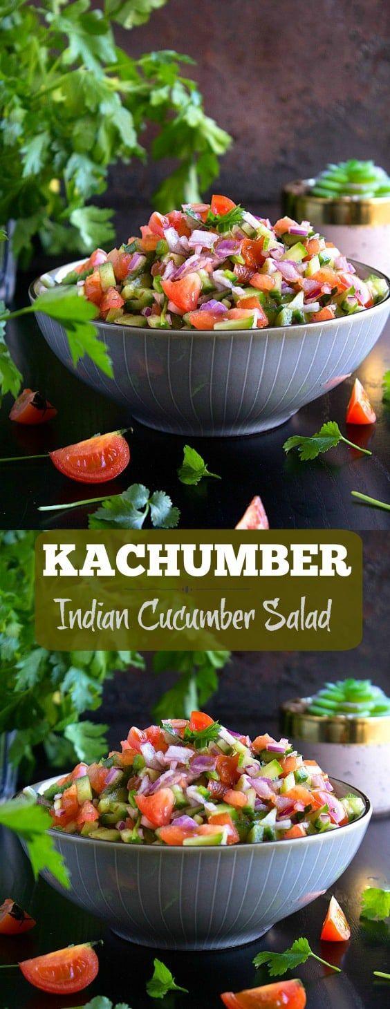 Kachumber | Indian Cucumber Salad | Video | Nish Kitchen