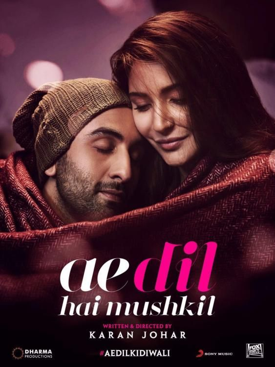 Ae Dil Hai Mushkil Dialogue In English Ranbir And Anushka Get Cozy In Ae Dil Hai Mushkil S New Poster Hindi Movies Download Movies