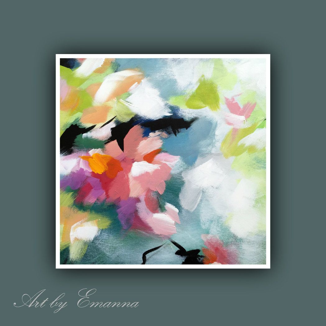 Fine Art Prints Set Of 3 Print Abstract Painting Plant Painting