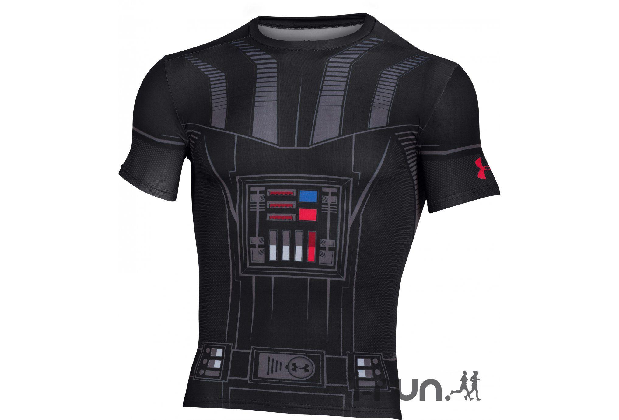Under Armour Tee-shirt Star Wars UA Vader Compression M - Vêtements homme running Compression Under Armour Tee-shirt Star Wars UA Vader Compression M