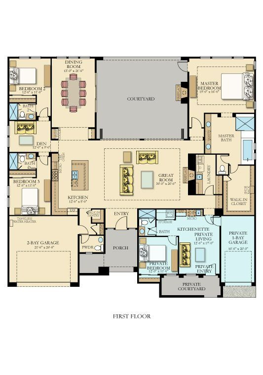 3475 next gen by lennar new home plan in griffin ranch for Garage suite plans