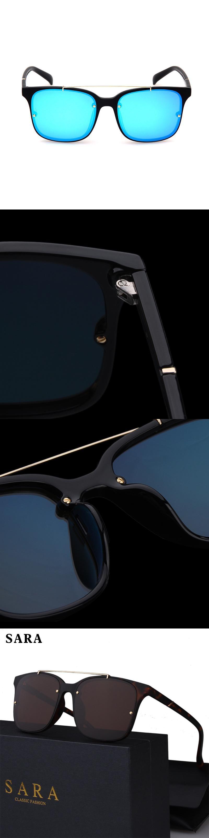 dd50c3286c51c 2017 SARA Retro Square Men s Polarized Sunglasses Men Classic Brand Designer  Driving Eyewear TR90 Frames Sun