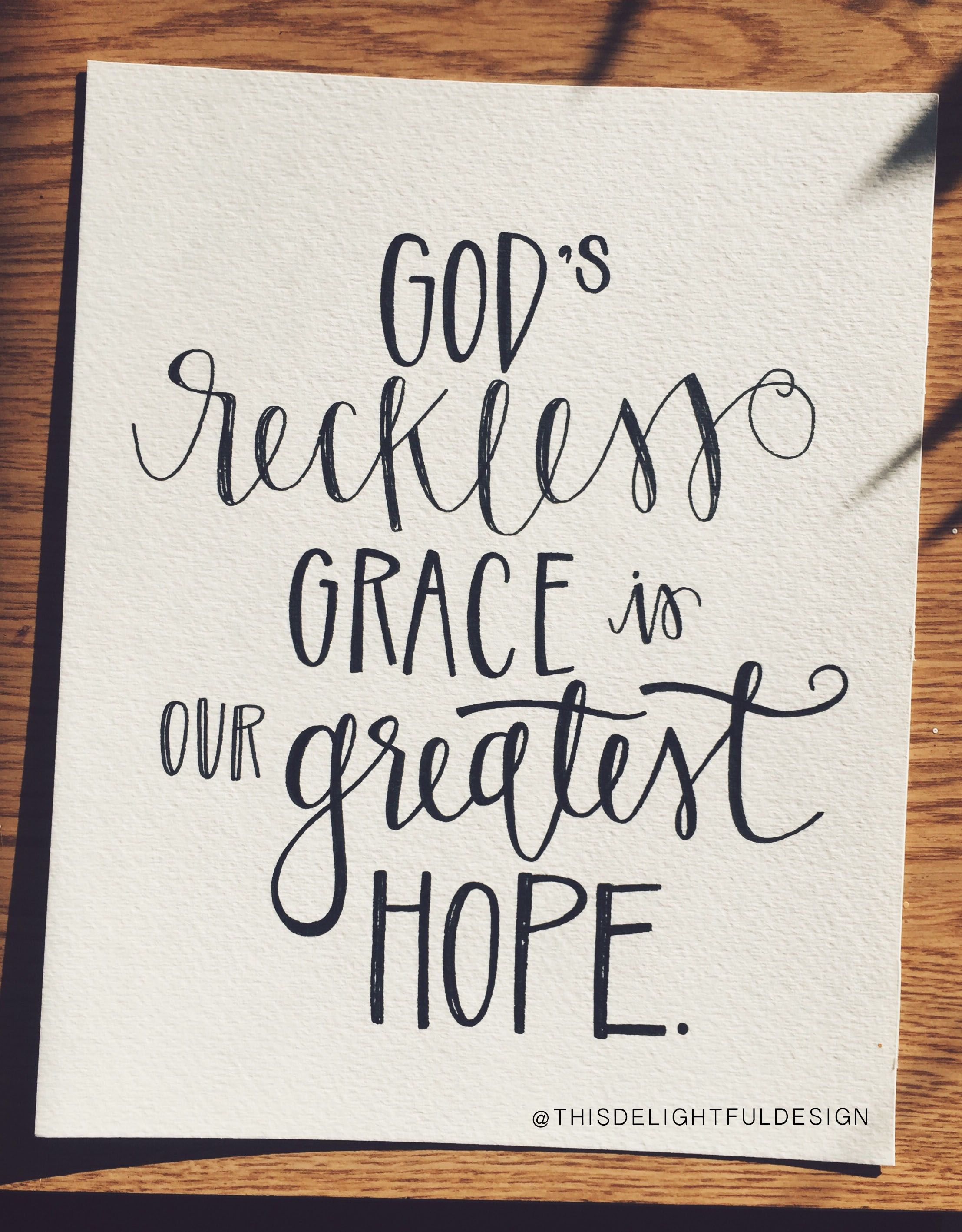 God s reckless grace is our greatest hope bible verse
