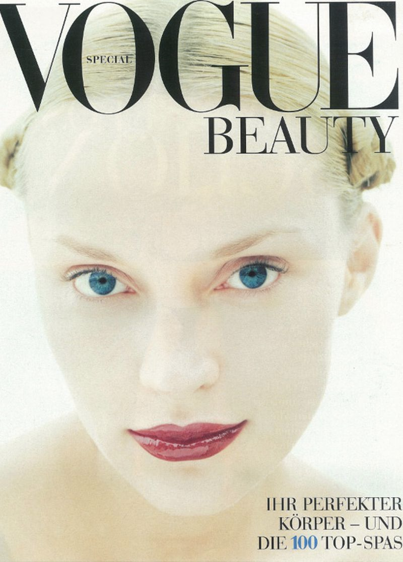 Inna Zobova Juli 1999 Beauty Cover Vogue Germany Vogue Top Model