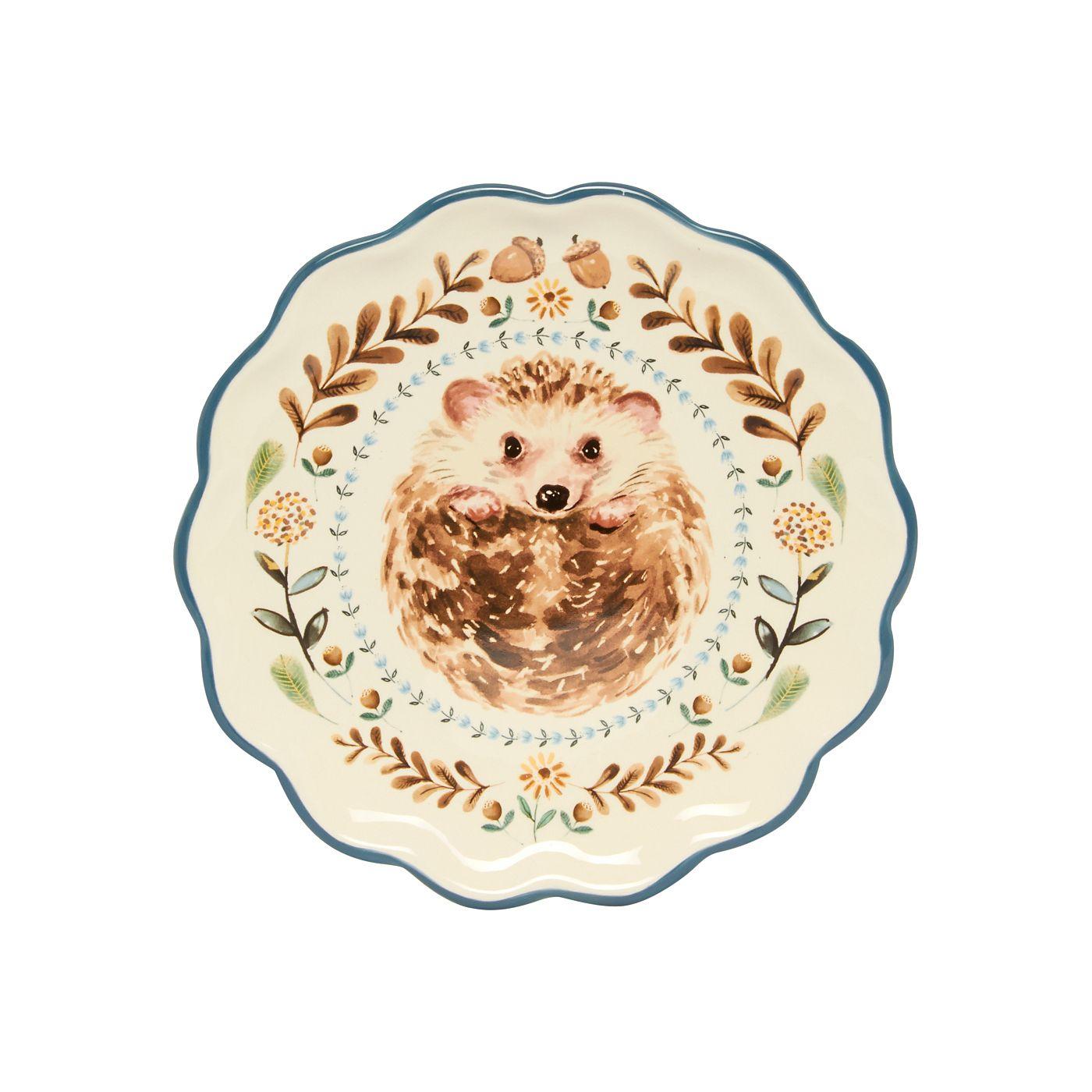 George Home Hedgehog Plate Ornaments Asda Direct George Home Hedgehog Fall Decor