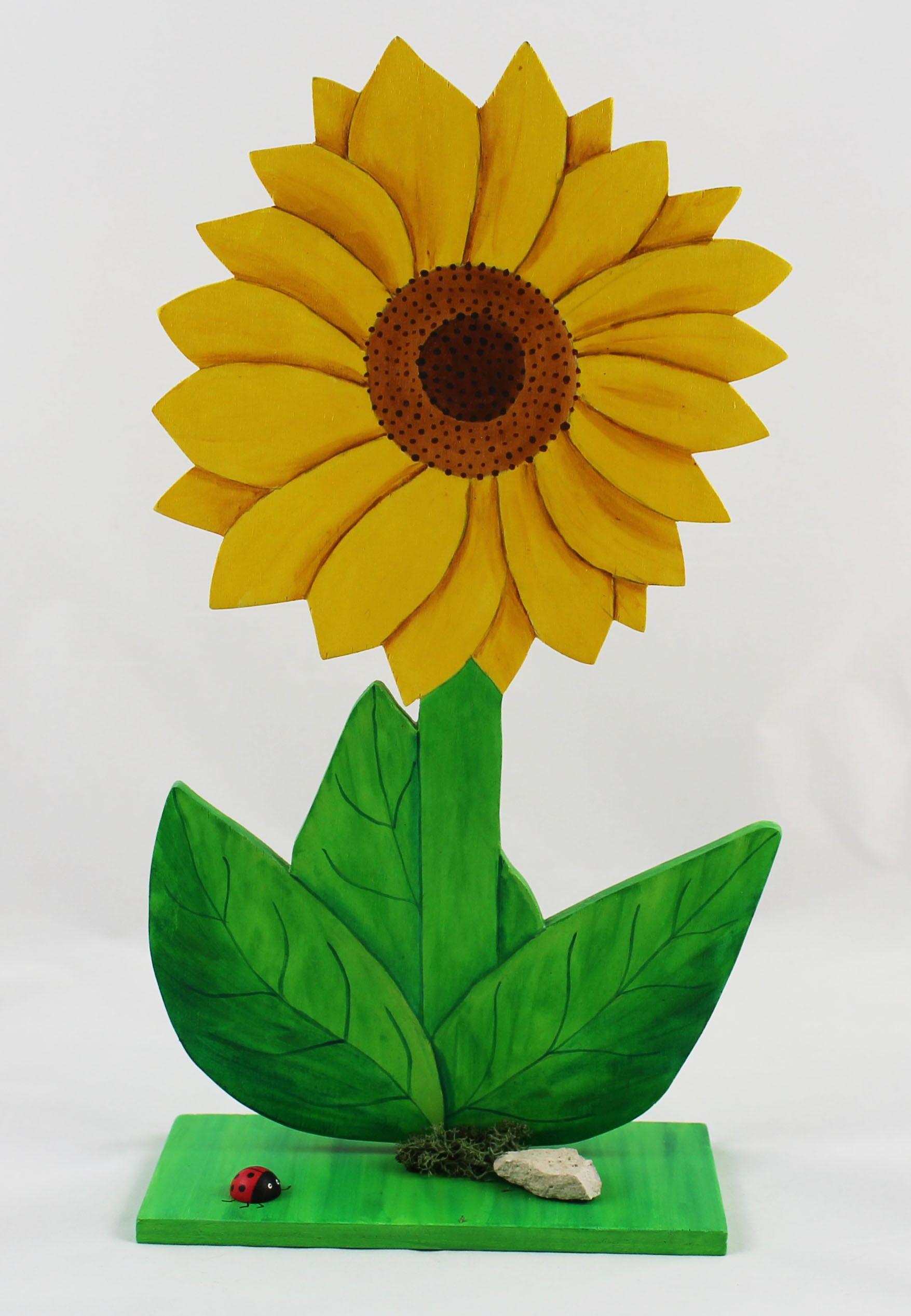 Sonnenblume   Holzdeko, Sonnenblumen und Webseite