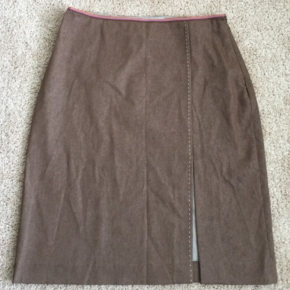 "Authentic MISSONI skirt Mint condition. Multicolor waist detail and front white stitching. Nice front slit that measures 10"".  Waist 30"" and total length: 22.5"" Not lined Missoni Skirts Pencil"